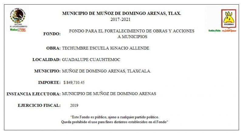 FONDO PARA EL FORTALECIMIENTO DE OBRAS Y ACCIONES A MUNICIPIOS